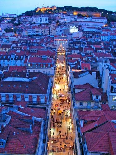 Rua Santa Justa & Castello San Jorge por dujarandille