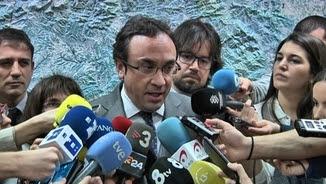 Josep Rull, a la roda de premsa