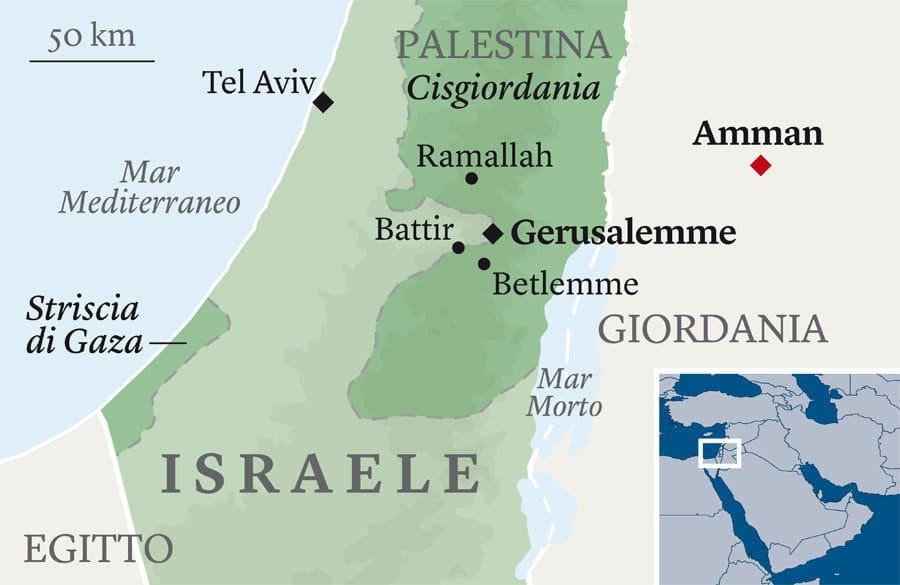 Cartina Israele E Palestina.In Cammino Tra Israele E Palestina Dove Il Muro Sparisce