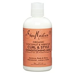 Product Image Shea Moisture Coconut & Hibiscus Curl & Style Conditioning Milk - 8 oz.