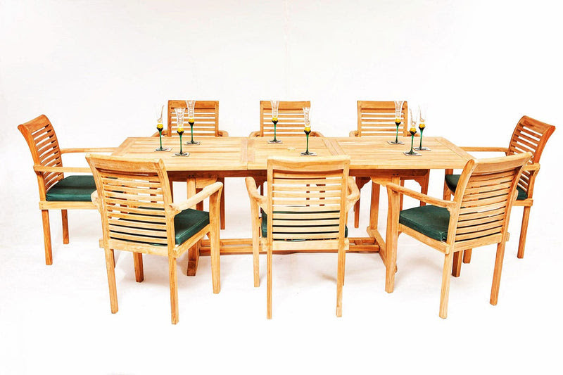 The Harrogate 8 Seater Teak Garden Furniture Set | Garden ...