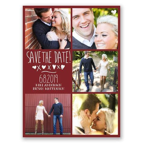 Love and Kisses Save the Date Card   Ann's Bridal Bargains
