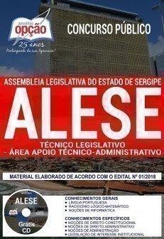 apostila Concurso ALESE TÉCNICO LEGISLATIVO - ÁREA APOIO TÉCNICO-ADMINISTRATIVO