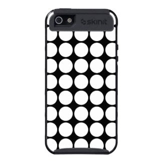 White Polka Dots on Black Case For iPhone 5