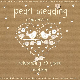 Pearl Wedding Anniversary Card   Karenza Paperie