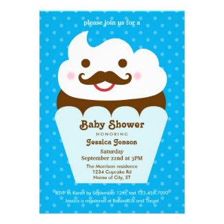 Big Cupcake Baby Shower Invitation
