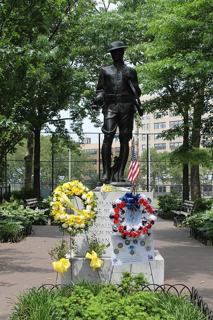 WWI memorial, DeWitt Clinton Park
