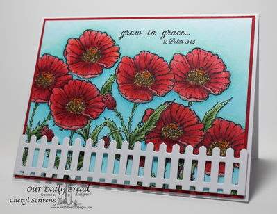 Stamps - Our Daily Bread Designs Mother's Day, Grow in Grace, ODBD Fence Die