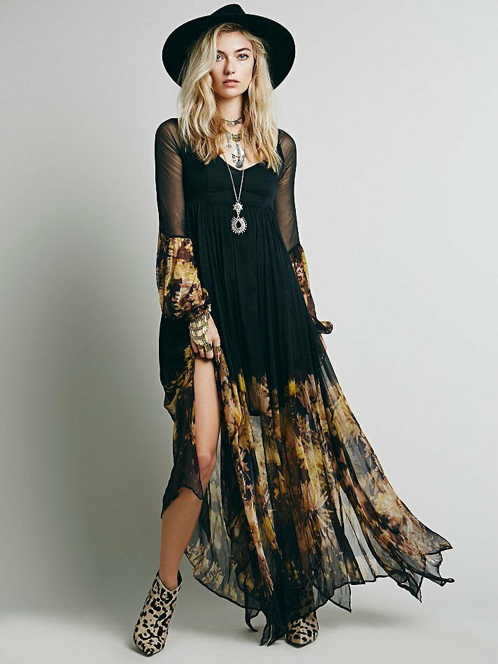new women vintage party evening boho bodycon maxi long
