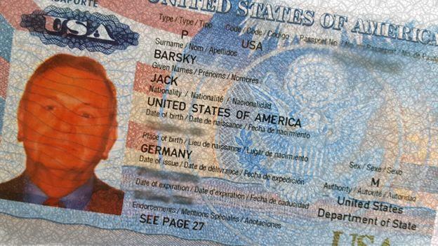 Pasaporte estadounidense de Jack Barsky.