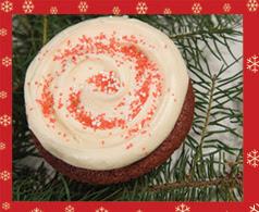 Red velvet cupcake from Cupcake Royale