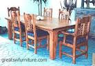 Mission, Southwest Style Dining Set, Tables, Chairs, China Cabinets