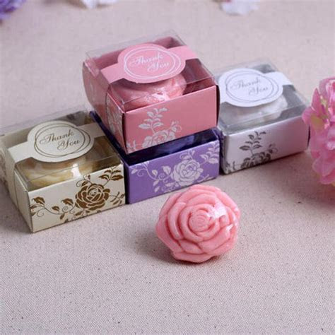 Romantic White Rose Shaped Soap Cheap Wedding Gifts, Best