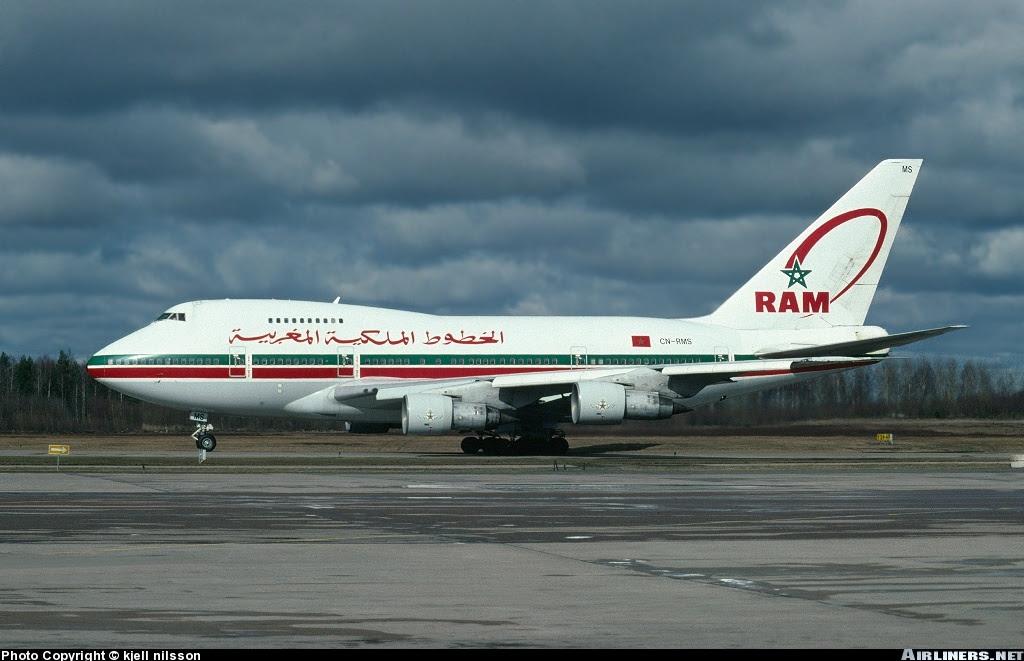 Royal Air Maroc 747SP in Stockholm, 1994
