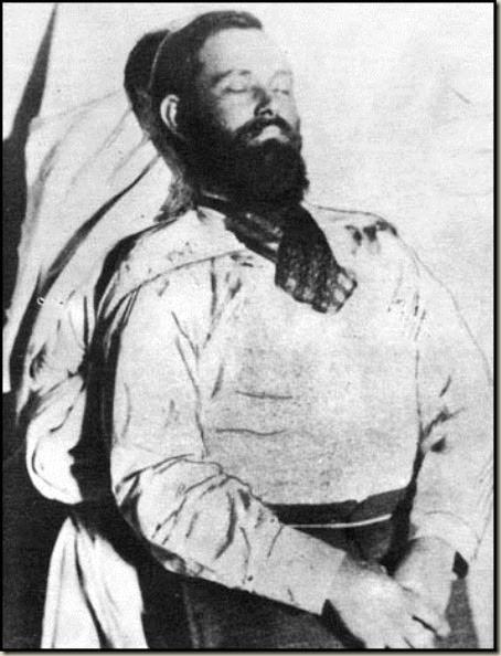 O corpo do bandoleiro Jesse James