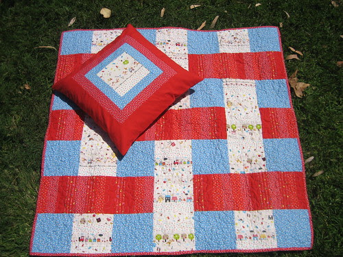 Stacked Quilt - top with pillow