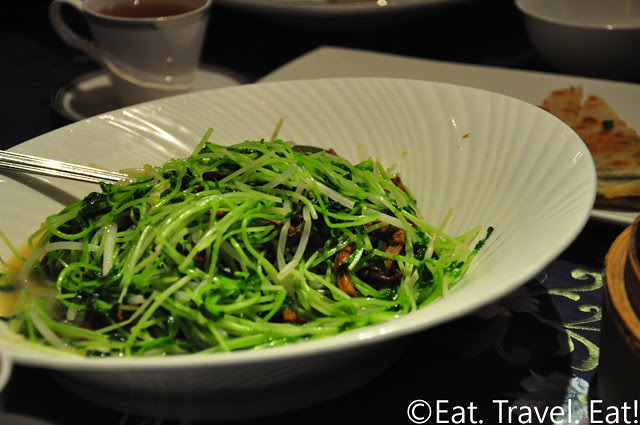 Pea Shoots with Mushrooms and Bean Sprouts in Supreme Broth- Peking Garden, Pacific Place