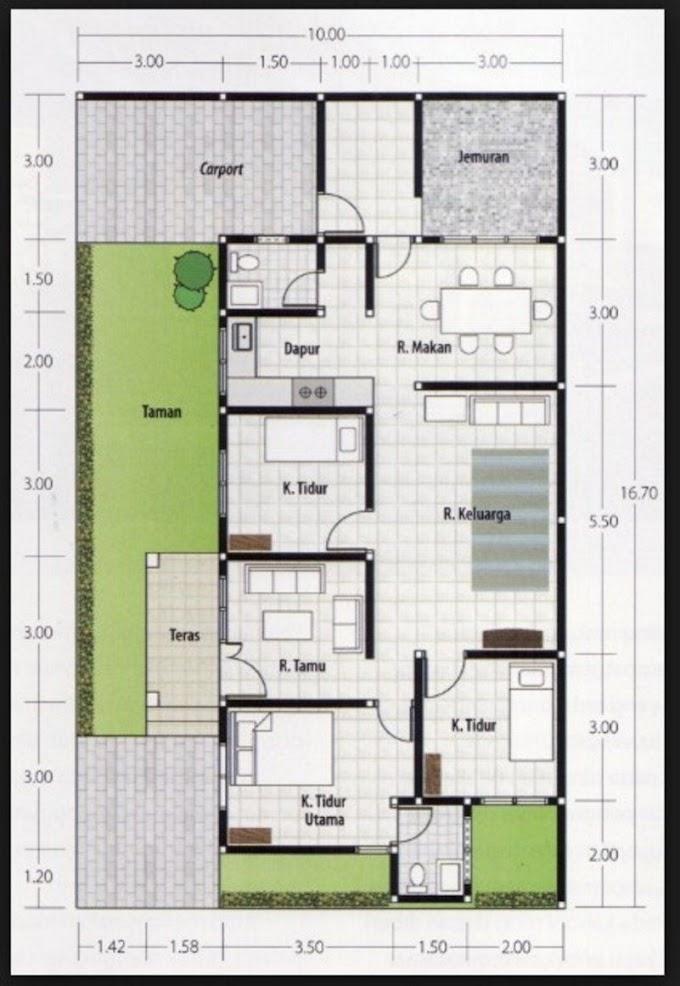 Skala Rumah Minimalis 3 Kamar | Ide Rumah Minimalis