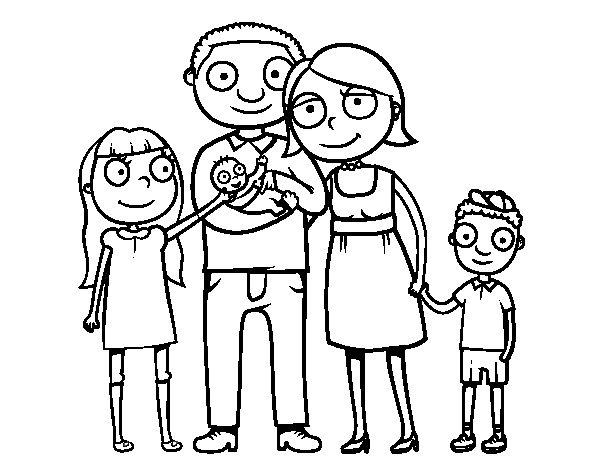 Famiglia Felice Da Colorare Stampae Colorare