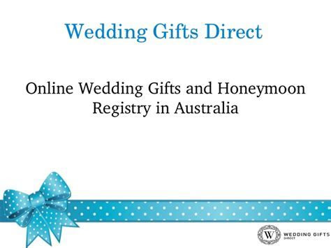 Online wedding gifts and honeymoon registry in australia