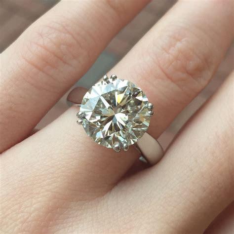 Loose Diamond, 5.18 Carat Round, SI2 Clarity, J Color