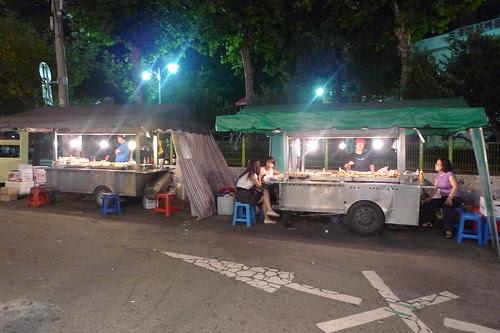 Roadside stalls in Seoul