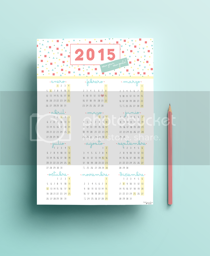 Freebie Calendario 2015