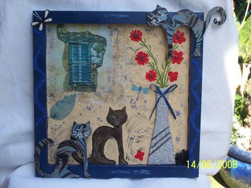 Un Chat à Sa Fenêtre Création De Lila Tableau Peinture Acrylique