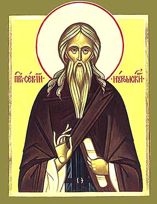 IMG ST. SERGIUS  Abbot of Nurma,  in Vologda, Russia