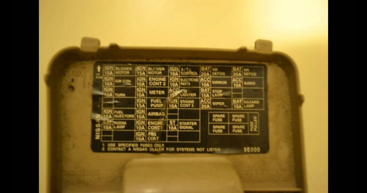 1998 Infiniti Qx4 Fuse Box Diagram