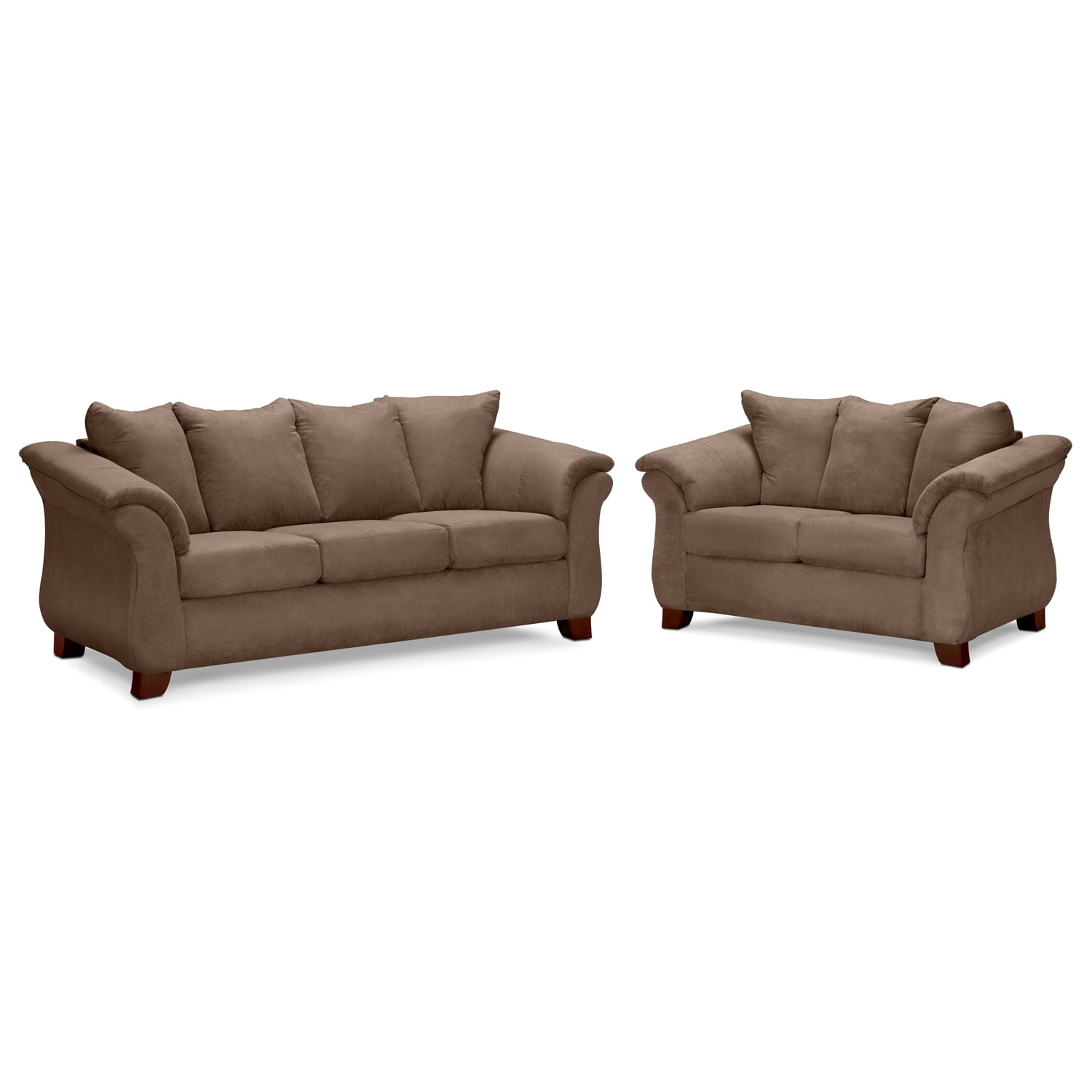 Adrian Taupe 2 Pc. Living Room | Value City Furniture