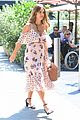jessica alba shows off her growing baby bump in nyc 01