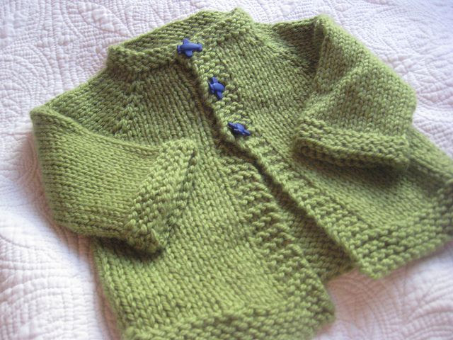 With sleeves baby easy patterns knit free cardigan and long