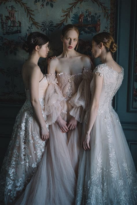 Blush Tulle Wedding Dress and Red Silk Alternative Bridal
