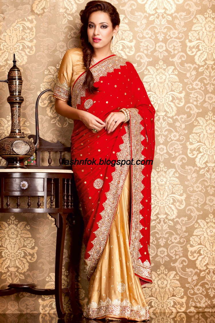 Bridal-Wedding-Wear-Sari-Lehenga-Choli-Latest-Brides-Outfit-for-Girls-Women-2013-1