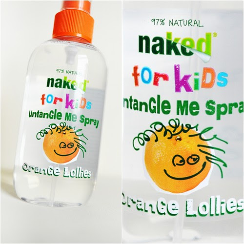 Naked for Kids Untangle me spray orange lollies