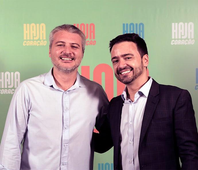 Fred Mayrink e Daniel Ortiz são o diretor artístico e autor, respectivamente, de 'Haja Coração' (Foto: Ellen Soares/ Gshow)