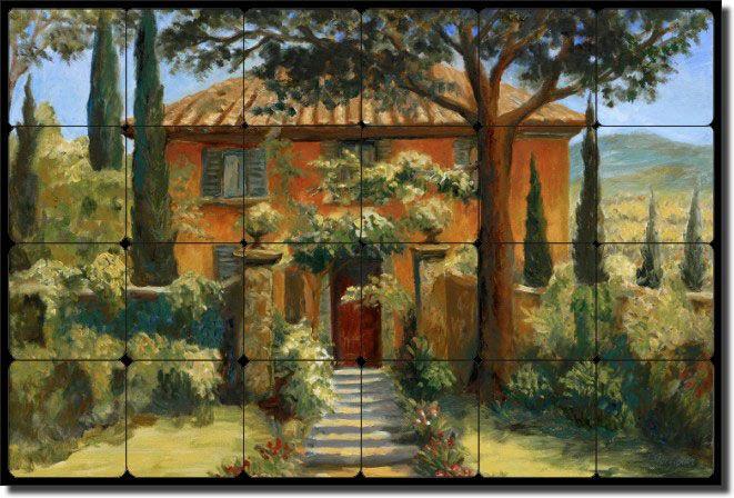 Tuscan Tile Murals Backsplash | Details about Tuscan Villa Tumbled Marble Tile Mural Backsplash Art