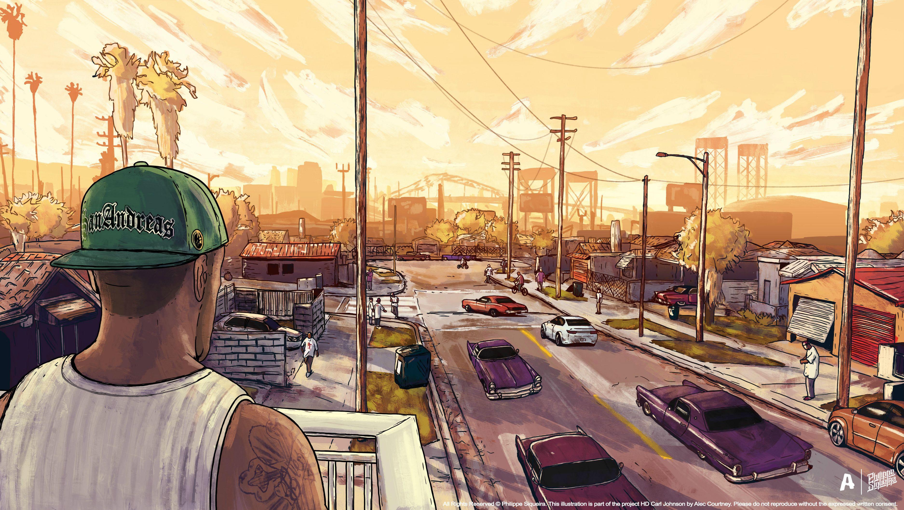 Gta San Andreas Artwork Hd Games 4k Wallpapers Images