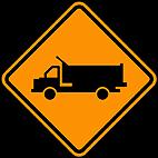 Sinalizaçao de Obras - Caminhoes na pista