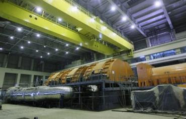 Interior of Bushehr nuclear plant