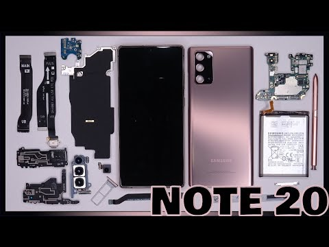 Samsung Galaxy Note 20 tear down in repair and hard to remove battery