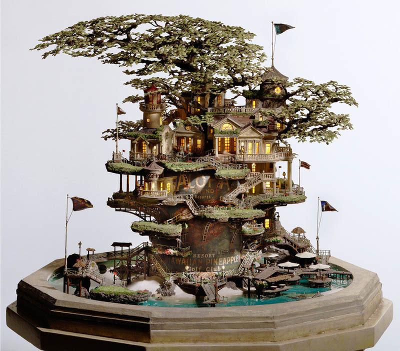 As intrincadas esculturas em miniatura de Takanori Aiba 12