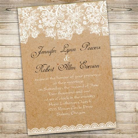 vintage floral lace wedding invitations EWI270 as low as