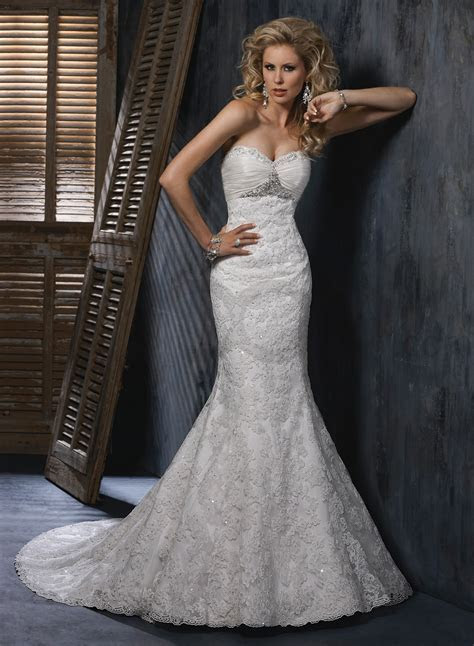 Fit and Flare Wedding Dress Picture Collection   Dressed