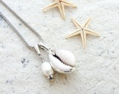 Sea Treasure Collection - Cowry Shell and Pearl Necklace - StaroftheEast