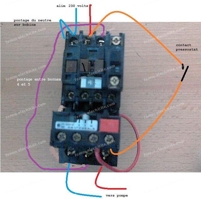 Branchement electrique pressostat surpresseur - Comment regler un surpresseur ...