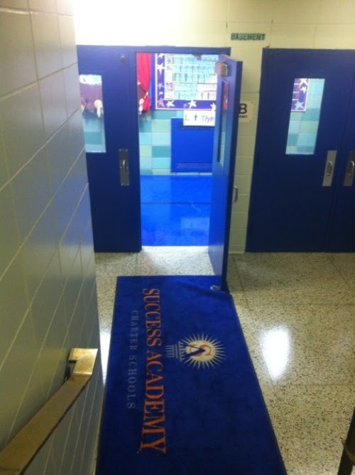 Success Academy, like our school, has carpeting at its entrance. These carpets get vacuumed by our custodial staff, who uses their equipment to clean all the schools housed in the building. However, the industrial vacuum that custodial uses is not functioning. SA purchased a new vacuum cleaner and a carpet shampooer which our custodians must use to regularly clean Success' carpet. However, despite custodial's request, SA will not allow the custodians to bring this vacuum upstairs. As a result, our school's carpets are being swept each day with a broom.
