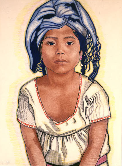 Zapoteka Girl From Mitla
