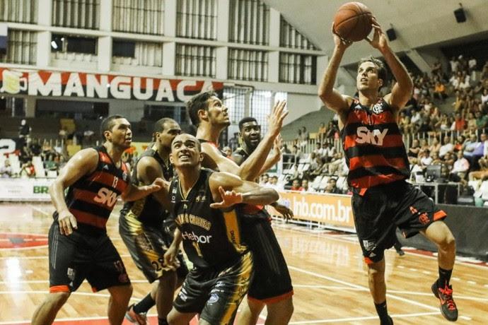 Marcelinho foi o cestinha do jogo contra o Mogi NBB basquete (Foto: Bruno Lorenzo/LNB)